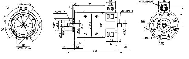 Электродвигатель AMP4648 (MM 167, 11.214.272, IMM304272) - схема