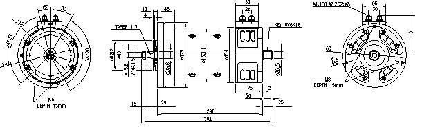 Электродвигатель AMP4316 (MM 155, 11.214.273, IMM304273) - схема