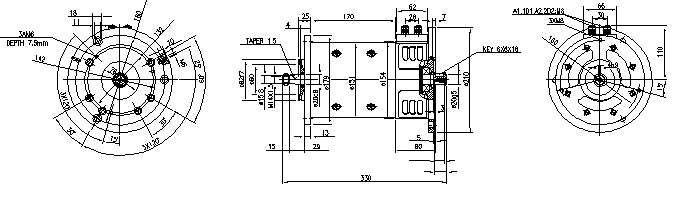 Электродвигатель AMP4312 (MM 75, 11.214.283, IMM304283) - схема