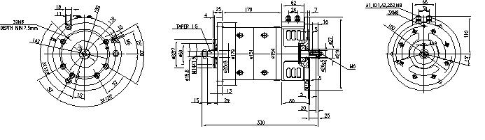 Электродвигатель AMP4654 (MM 108, 11.214.284, IMM304284) - схема