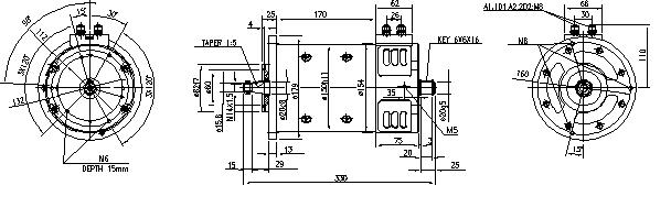 Электродвигатель AMP4656 (MM 315, 11.214.287, IMM304287) - схема
