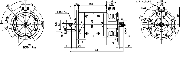 Электродвигатель AMP4668 (MM 328, 11.214.291, IMM304291) - схема
