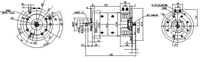 Электродвигатель AMP4318 (MM 240, 11.214.297, IMM304297) - схема