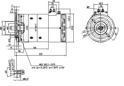 Электродвигатель AMT5603 (MM 312, 11.214.408, IMM304408) - схема