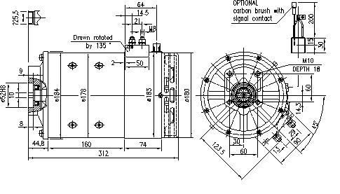 Электродвигатель AMT4630 (11.214.409, IMM304409) - схема
