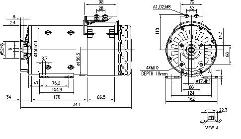 Электродвигатель AMP4512 (MM 332, 11.216.004, IMM306004) - схема