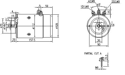 Электродвигатель AMJ4727 (MM 310, 11.216.051, IMM306051) - схема