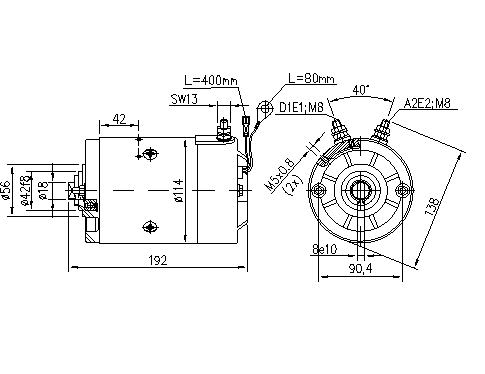 Электродвигатель AMJ5884 (MM 61, 11.216.996, IMM306996) - схема