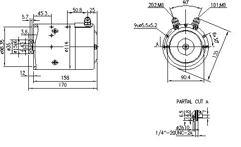 Электродвигатель AMJ4747 (MM 138, 11.216.200, IMM306200) - схема