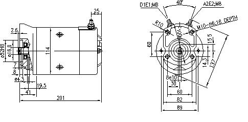 Электродвигатель AMJ5716 (MM 283, 11.216.203, IMM306203) - схема