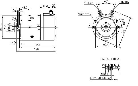 Электродвигатель AMJ4750 (MM 131, 11.216.206, IMM306206) - схема