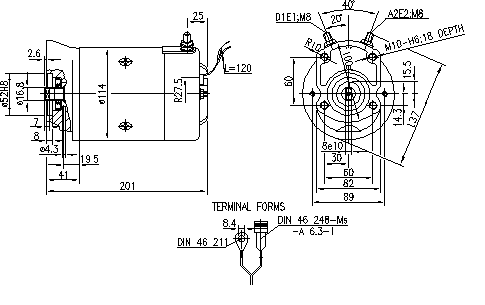 Электродвигатель AMJ5720 (MM 159, 11.216.208, IMM306208) - схема