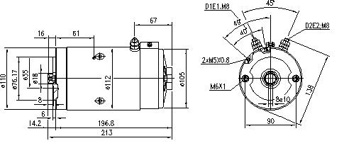 Электродвигатель AMJ5722 (MM 86, 11.216.225, IMM306225) - схема