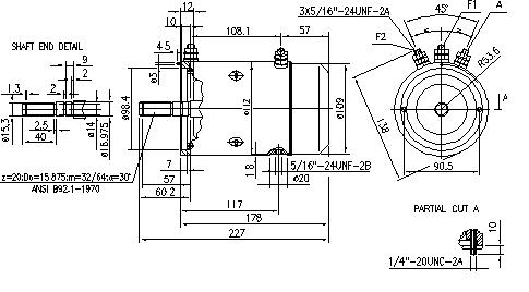 Электродвигатель AMJ4761 (MM 293, 11.216.273, IMM306273) - схема