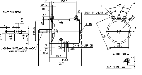Электродвигатель AMJ4764 (MM 296, 11.216.276, IMM306276) - схема