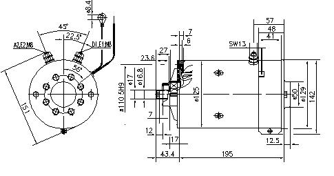 Электродвигатель AMK5695 (MM 300, 11.216.028, IMM306028) - схема