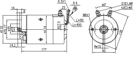 Электродвигатель AMJ5753 (MM 77, 11.216.380, IMM306380) - схема