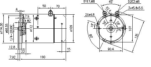 Электродвигатель AMJ5754 (MM 80, 11.216.385, IMM306385) - схема