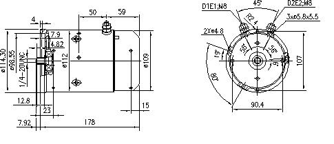 Электродвигатель AMJ5755 (MM 104, 11.216.386, IMM306386) - схема