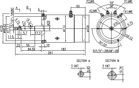 Электродвигатель AMJ4784 (MM 79, 11.216.384, IMM306384) - схема