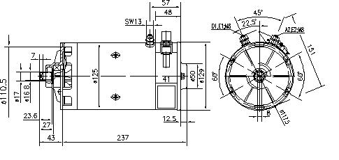 Электродвигатель AMK5504 (IM0169) - схема
