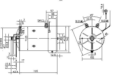 Электродвигатель AMK5690 (MM 291, 11.212.993, IMM302993) - схема