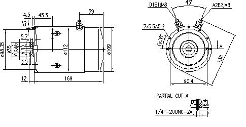 Электродвигатель AMJ5110 (MM 170, 11.212.516, IMM302516) - схема