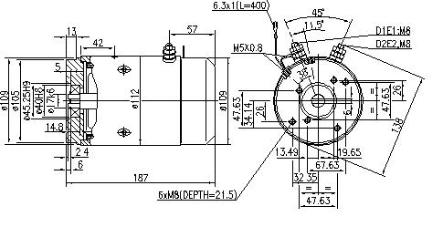 Электродвигатель AMJ5756 (MM 277, 11.216.394, IMM306394) - схема