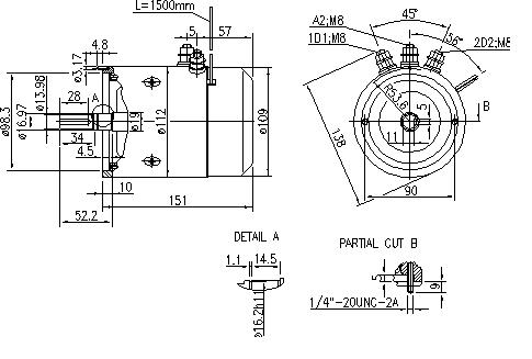Электродвигатель AMJ4789 (MM 178, 11.216.402, IMM306402) - схема