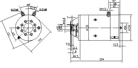 Электродвигатель AMK5519 (MM 123, 11.216.319, IMM306319) - схема