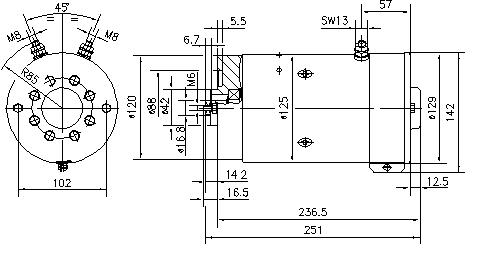 Электродвигатель AMK5607 (MM 298, 11.212.138, IMM302138) - схема