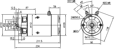 Электродвигатель AMJ5143 (IM0186) - схема