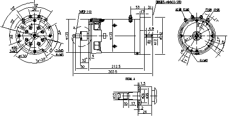 Электродвигатель AMK2614 (MM 252, 11.216.369, IMM306369) - схема