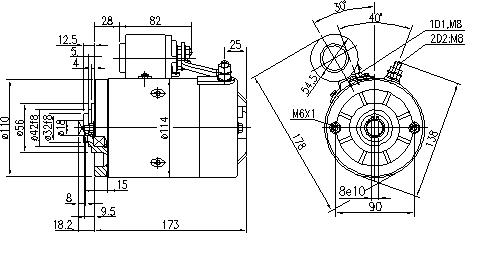 Электродвигатель AMJ4788 (MM 179, 11.216.401, IMM306401) - схема