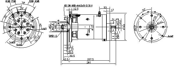 Электродвигатель AMK2622 (MM 134, 11.216.449, IMM306449) - схема