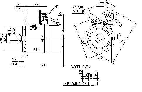 Электродвигатель AMJ5766 (MM 71, 11.216.445, IMM306445) - схема