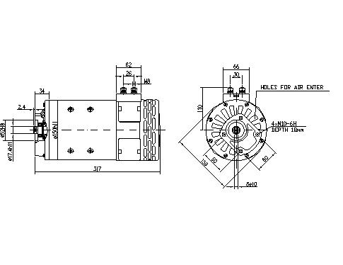 Электродвигатель AMP4509 (MM 84, 11.214.299, IMM304299) - схема