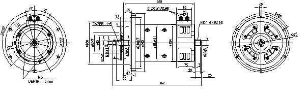 Электродвигатель AMP4508 (MM 359, 11.214.279, IMM304279) - схема
