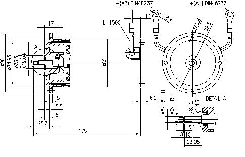 Электродвигатель AME1778 (11.216.490, IMM306490) - схема