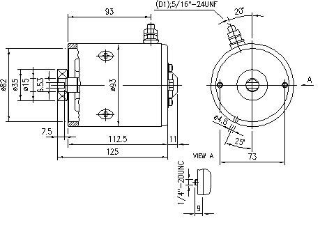 Электродвигатель AMF4665 (MM 109, 11.216.493, IMM306493) - схема