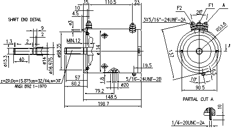 Электродвигатель AMJ4504 (MM 201, 11.216.500, IMM306500) - схема