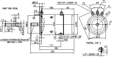 Электродвигатель AMJ4505 (MM 280, 11.216.502, IMM306502) - схема
