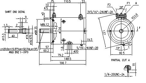 Электродвигатель AMJ4507 (11.216.504, IMM306504) - схема
