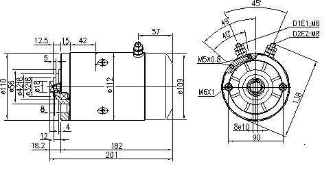 Электродвигатель AMJ5777 (MM 195, 11.216.511, IMM306511) - схема