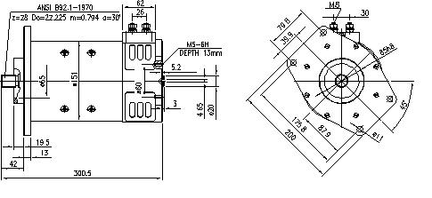 Электродвигатель AMP2602 (MM 228, 11.212.851, IMM302851) - схема