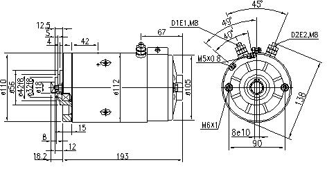 Электродвигатель AMJ5779 (MM 271, 11.216.518, IMM306518) - схема