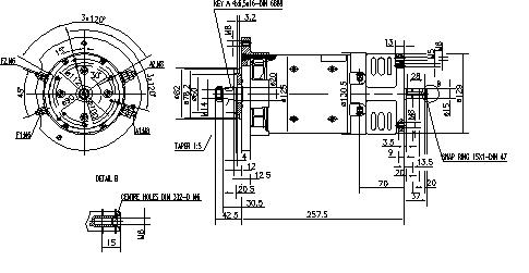 Электродвигатель AMK2620 (MM 220, 11.216.413, IMM306413) - схема