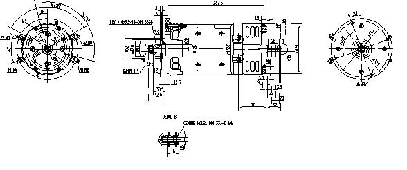 Электродвигатель AMK2623 (MM 363, 11.216.521, IMM306521) - схема