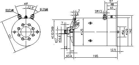 Электродвигатель AMK5527 (MM 202, 11.216.426, IMM306426) - схема