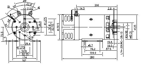 Электродвигатель AMK4638 (MM 329, 11.216.146, IMM306146) - схема